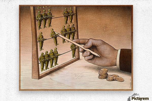 Abacus  Impression metal