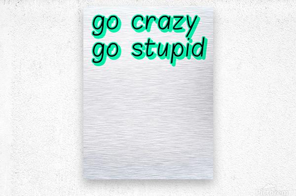 go crazy go stupid (5)_1563315026.8225  Metal print