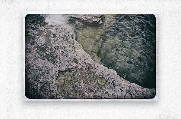 Along the water  Metal print
