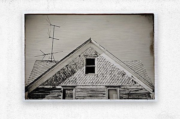 Top of the house  Metal print