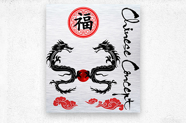 Chinese Concept 29A  Metal print