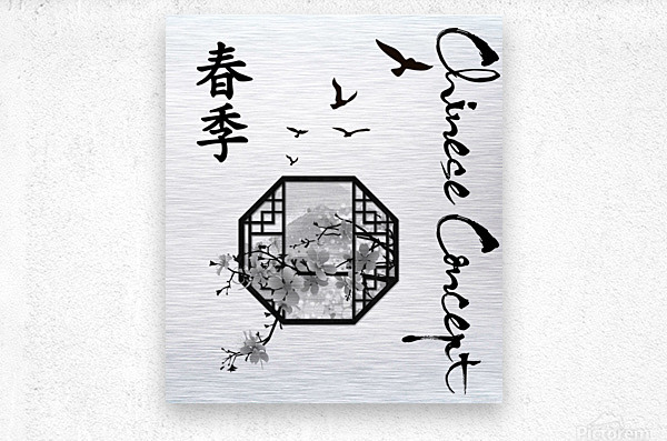 Chinese Concept 35A  Metal print