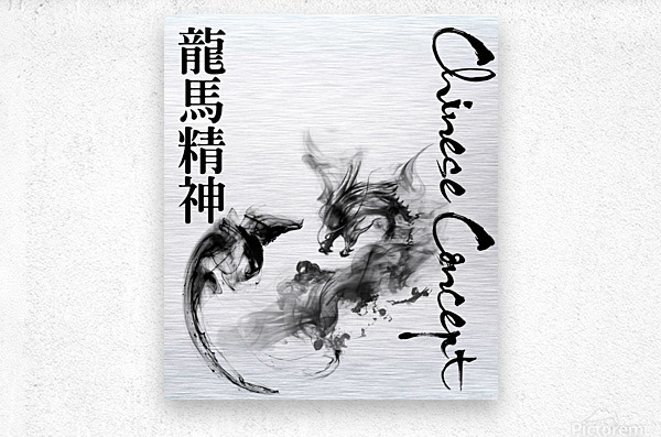Chinese Concept 40A  Metal print