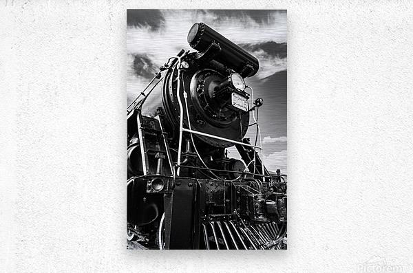 Canadian Steam Locomotive 6015 B  Metal print