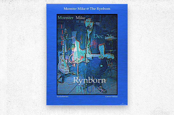 Monster Mike At The Rynborn Blues Club  Metal print