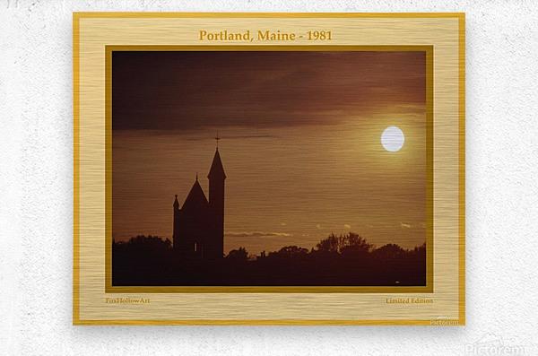 Portland Maine 1981  Metal print