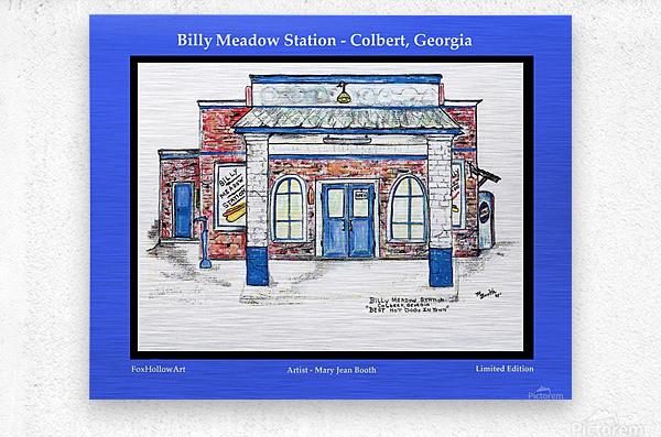Billy Meadow Station Georgia  Metal print