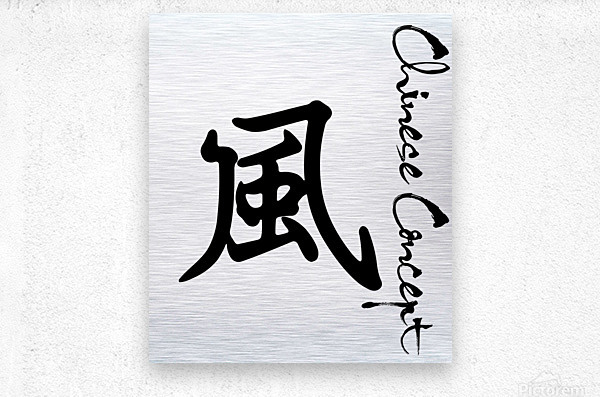 Chinese Concept 45A  Metal print