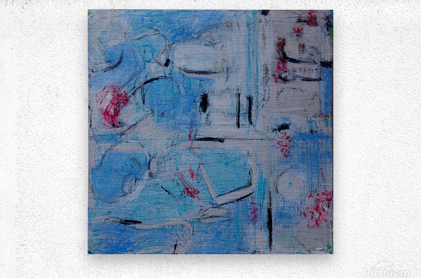 twombly blue  Metal print