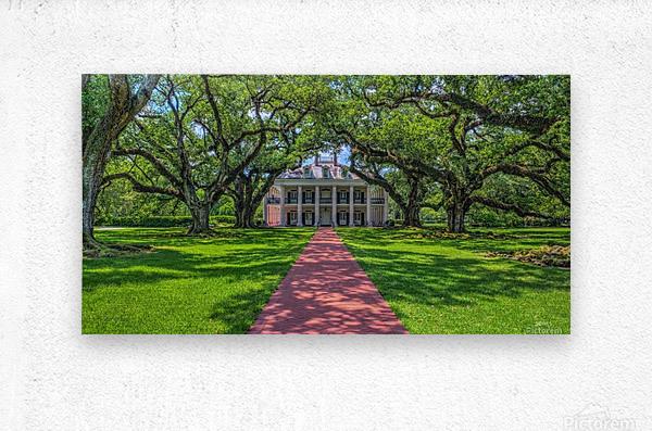 Oak Alley Plantation - HDR  Metal print