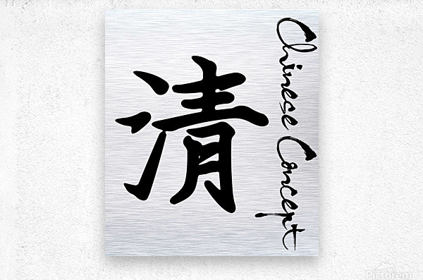 Chinese Concept 47A  Metal print