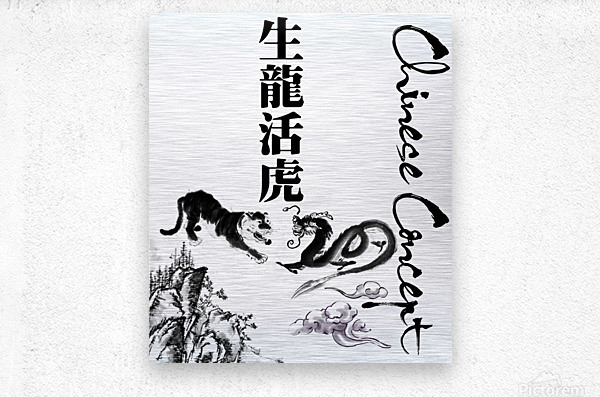 Chinese Concept 48A  Metal print