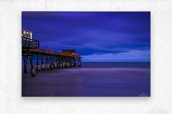 Pier at Dawn  Metal print