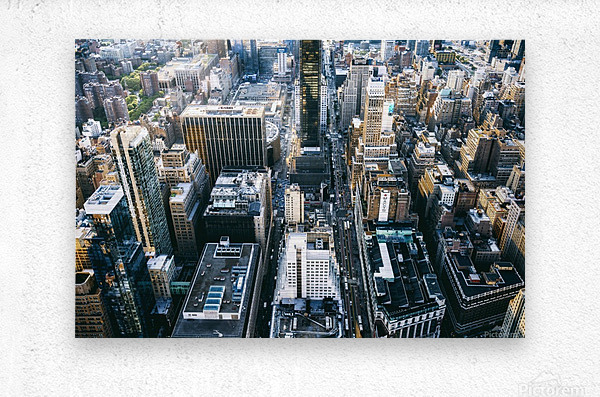 New York city Skyline View   Metal print