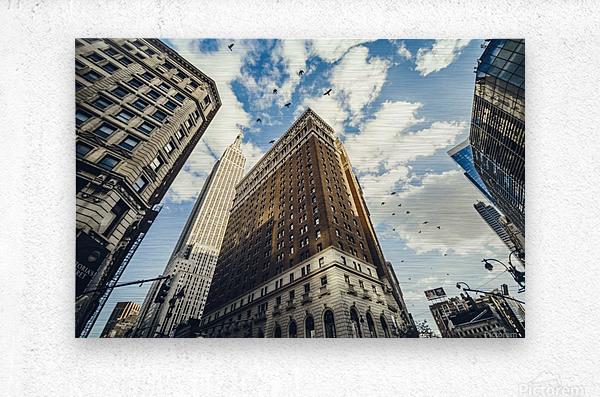 New York Sky  Metal print
