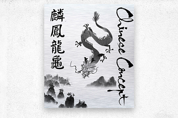 Chinese Concept 52A  Metal print