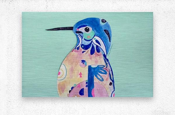 Azure Kingfisher   Metal print