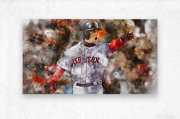 ANDREW BENINTENDI Water Color Print - Boston Red Sox Print  Metal print