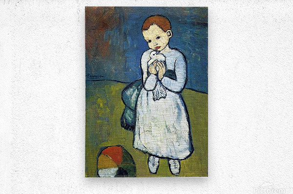 Pablo Piccaso. Child with Dove HD 300ppi  Metal print
