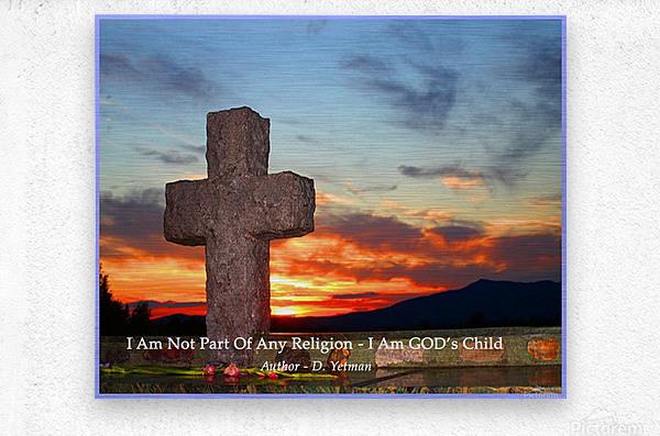 I AM Gods Child  Metal print