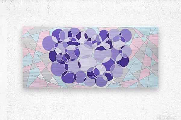 grape  Metal print