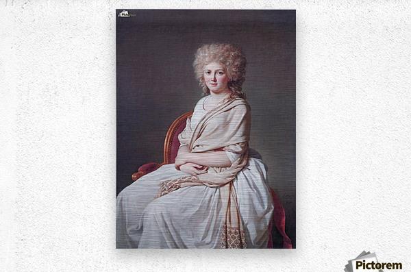 Portrait of Anne Marie  Metal print