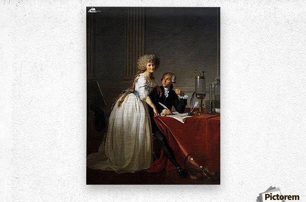 Portrait of Antoine Laurent and Marie Anne Lavoisier  Metal print