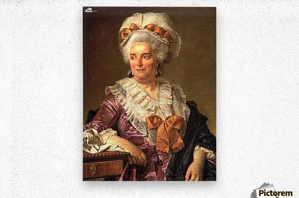 Portrait of Genevieve Jacqueline Pecoul  Metal print