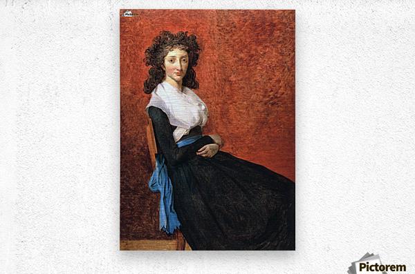Portrait of madame charles louis trudaine 1792  Metal print