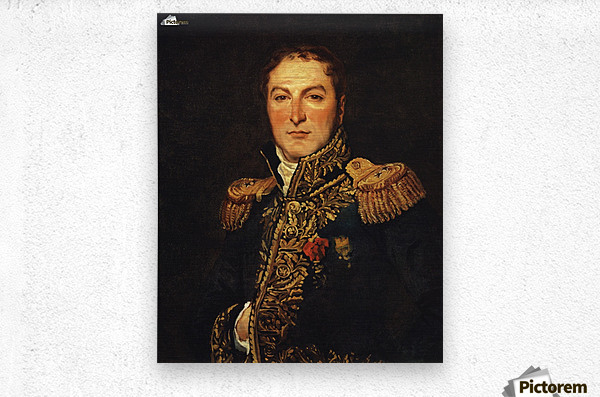 Portrait of Meunier  Metal print