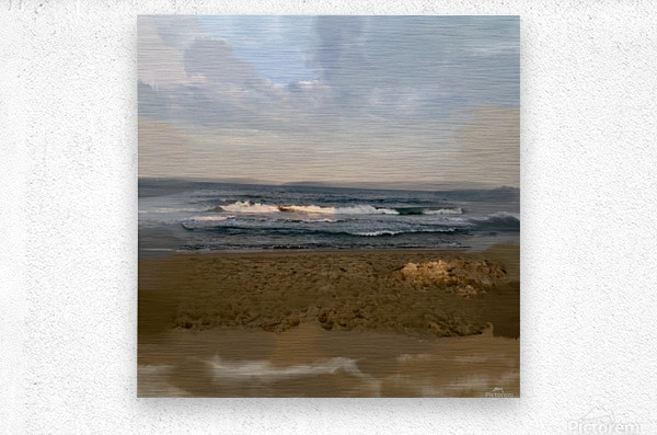 The Surf at Sunset  Metal print