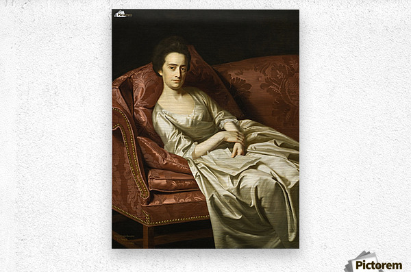 Portrait of a lady sitting  Metal print