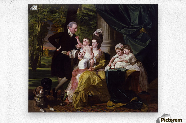 Sir William Pepperrell and His Family  Metal print