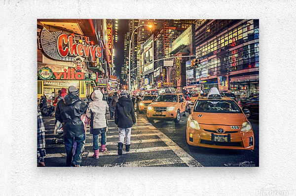 New York City Taxi Mayhem   Metal print
