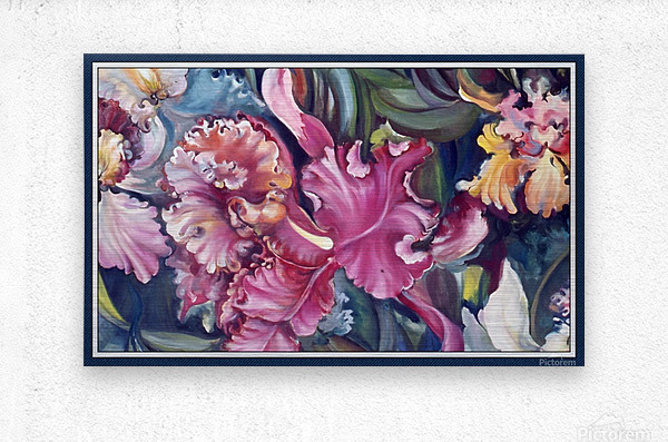 Orchids Blooming   Impression metal