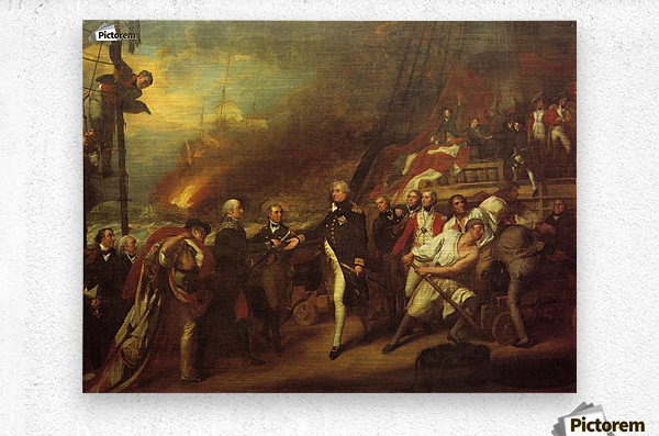 The Victory of Lord Duncan  Metal print