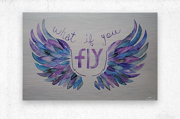 What if you fly   Metal print