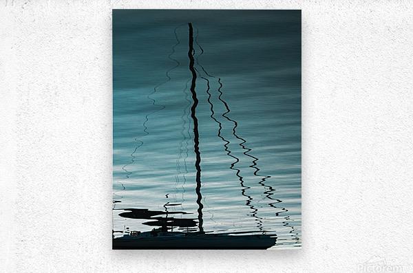 Sailboat Ripples  Metal print