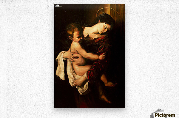 Virgin Mary and Child  Metal print