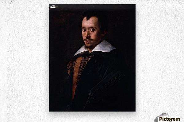 Portrait of the Poet Giambattista Marino  Metal print