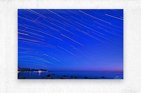 Dive of stars in the sea  Metal print