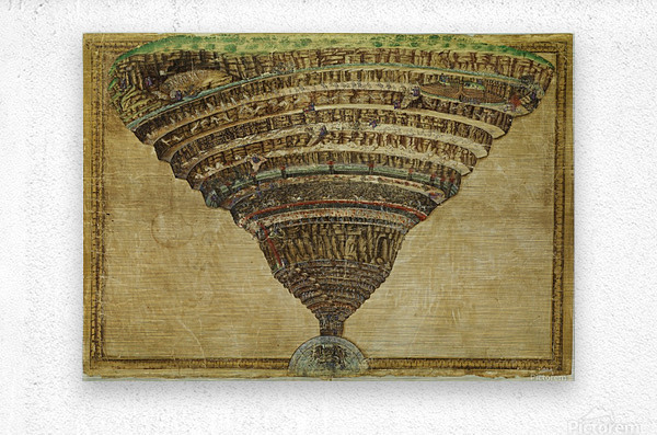 Map of The Inferno  Metal print