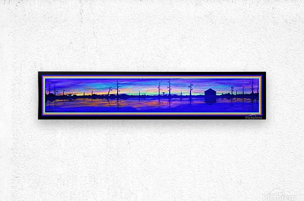 WINTER MARSH IV  -  BLACKLIGHT VERSION  Metal print