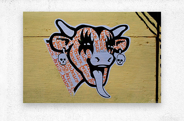 Demon Laughing Cow  Metal print