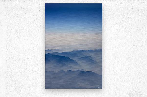 Japanese Mountains  Metal print