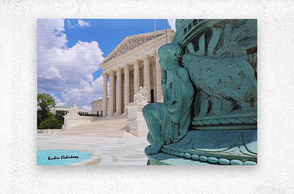 Washington DC Supreme court and Statue  Metal print