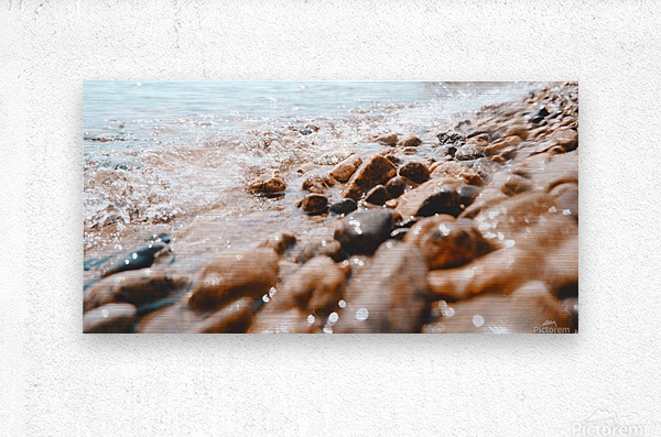 Pebbles and Ripples  Metal print