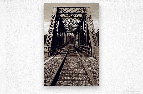 Over the Bridge  Metal print
