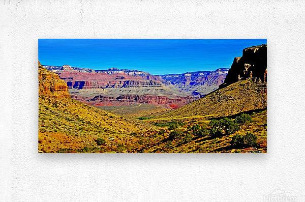 Grand Canyon  Bright Angel Trail 15  Metal print