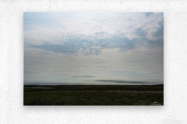 Bright sky in Tuktoyaktuk  Metal print